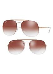 Ray-Ban Blaze 58mm Gradient Lens Aviator Sunglasses