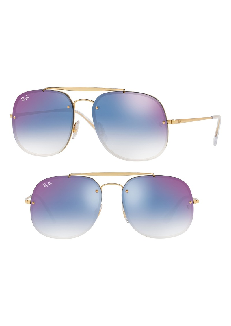 Ray-Ban Blaze 58mm Gradient Lens Aviator Sunglasses