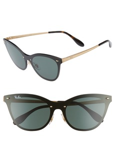 Ray-Ban Blaze 58mm Mirrored Cat Eye Sunglasses