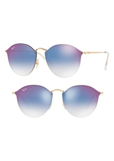 Ray-Ban Blaze 59mm Round Mirrored Sunglasses