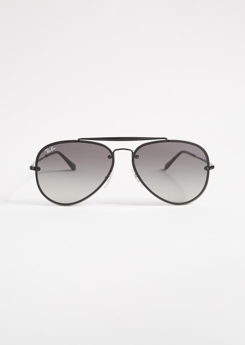 3844fee2d223 Ray-Ban Ray-Ban Blaze Flat Lens Pilot Aviator Sunglasses | Sunglasses