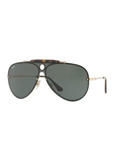 Ray-Ban Blaze Shooter Flat Shield Sunglasses