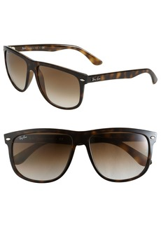 Ray-Ban Boyfriend Flat Top Frame 60mm Sunglasses
