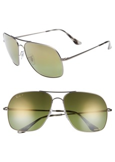 Ray-Ban Chromance 61mm Double Bridge Aviator Sunglasses