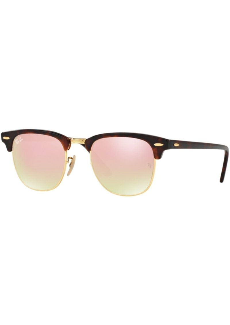 Ray-Ban Sunglasses, RB3016 Clubmaster Flat Lenses Gradient