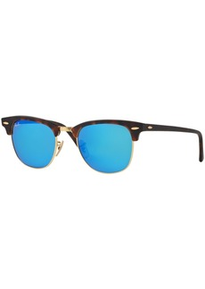 Ray-Ban Clubmaster Mirrored Sunglasses, RB3016 51