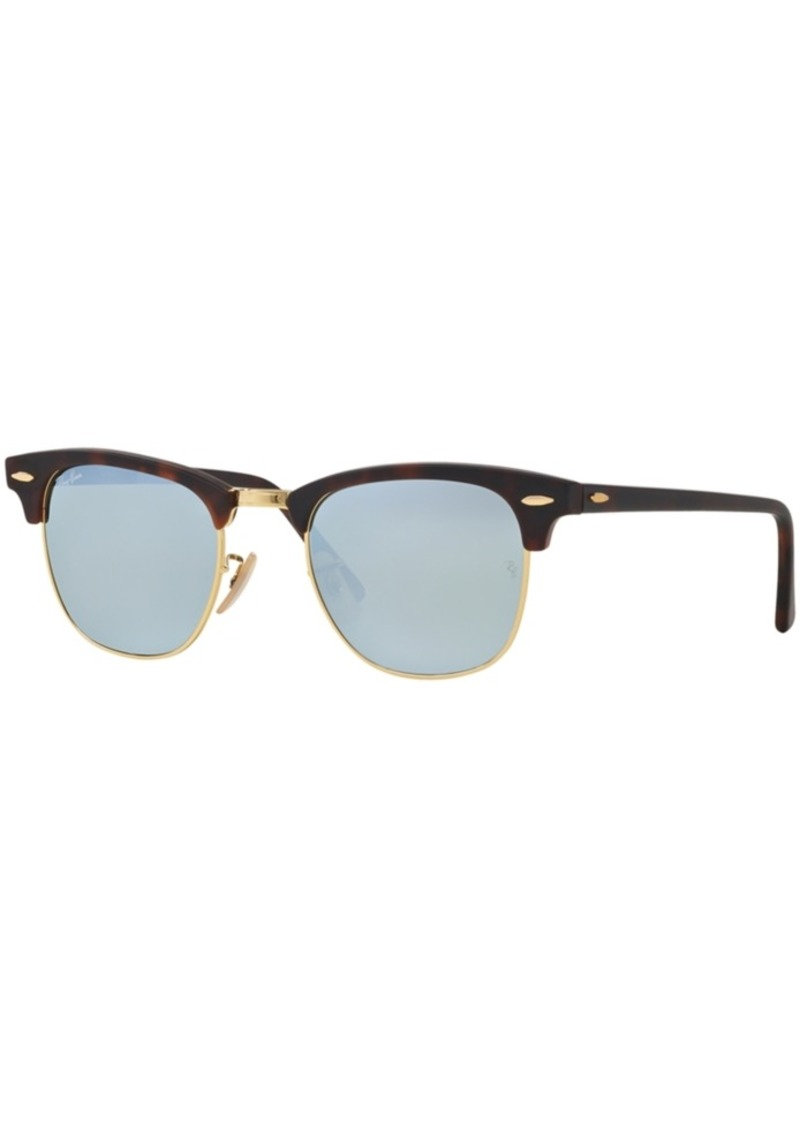 Ray-Ban Sunglasses, RB3016 Clubmaster Flat Lenses