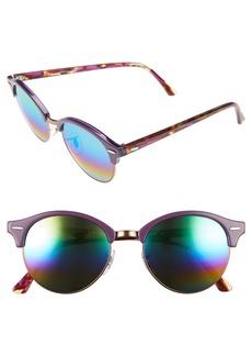 Ray-Ban Clubround 51mm Mirrored Rainbow Round Sunglasses