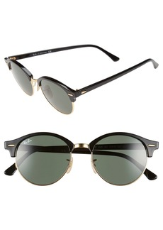 Ray-Ban Clubround 51mm Round Sunglasses