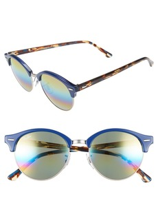 Ray-Ban 'Clubround' 51mm Round Sunglasses