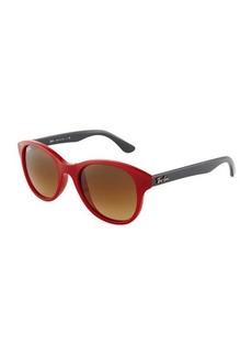 Ray-Ban Colorblock Acetate Round Sunglasses