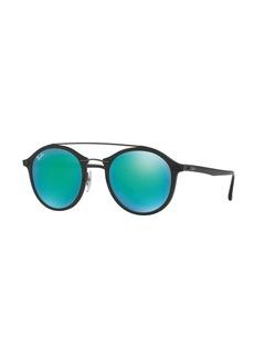 Ray-Ban Round Iridescent Double-Bridge Sunglasses