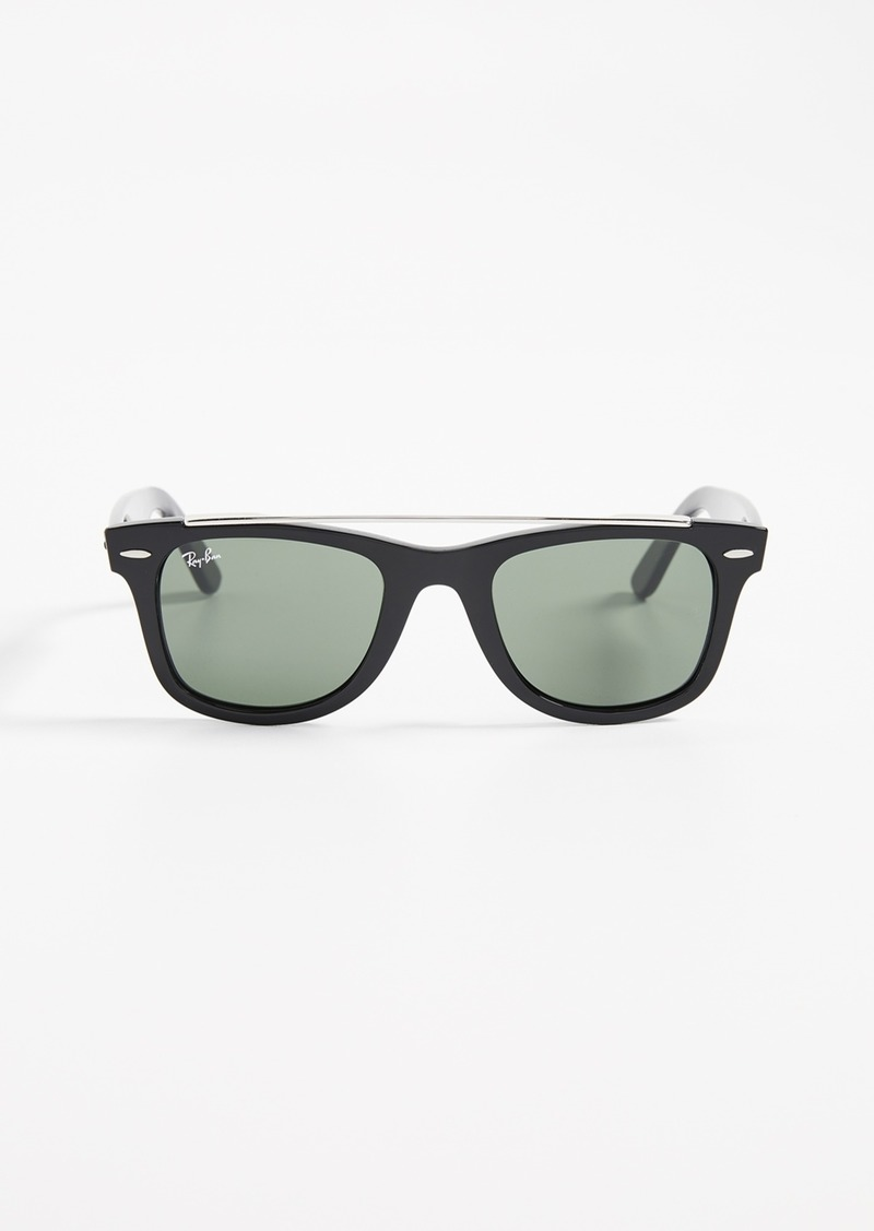 Ray-Ban RB4540 Double Bridge Wayfarer Sunglasses