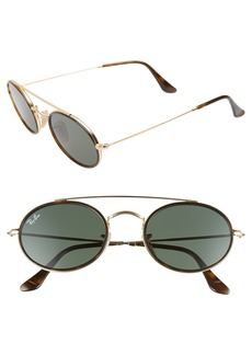 Ray-Ban Elite 52mm Oval Sunglasses