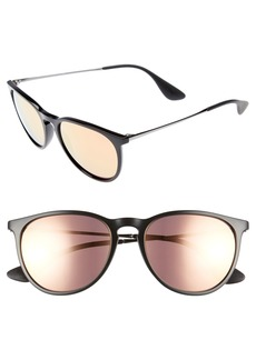 Ray-Ban Erika 54mm Mirrored Sunglasses (Nordstrom Exclusive)