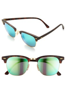 Ray-Ban Flash Clubmaster 51mm Sunglasses