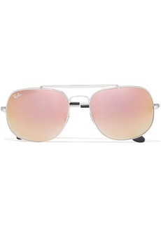 Ray-Ban General aviator silver-tone mirrored sunglasses