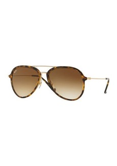 Ray-Ban Gradient Aviator Metal Sunglasses
