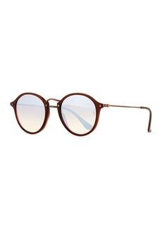 Ray-Ban Gradient Iridescent Round Flash Sunglasses