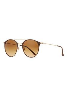 Ray-Ban Gradient Round Double-Bridge Sunglasses