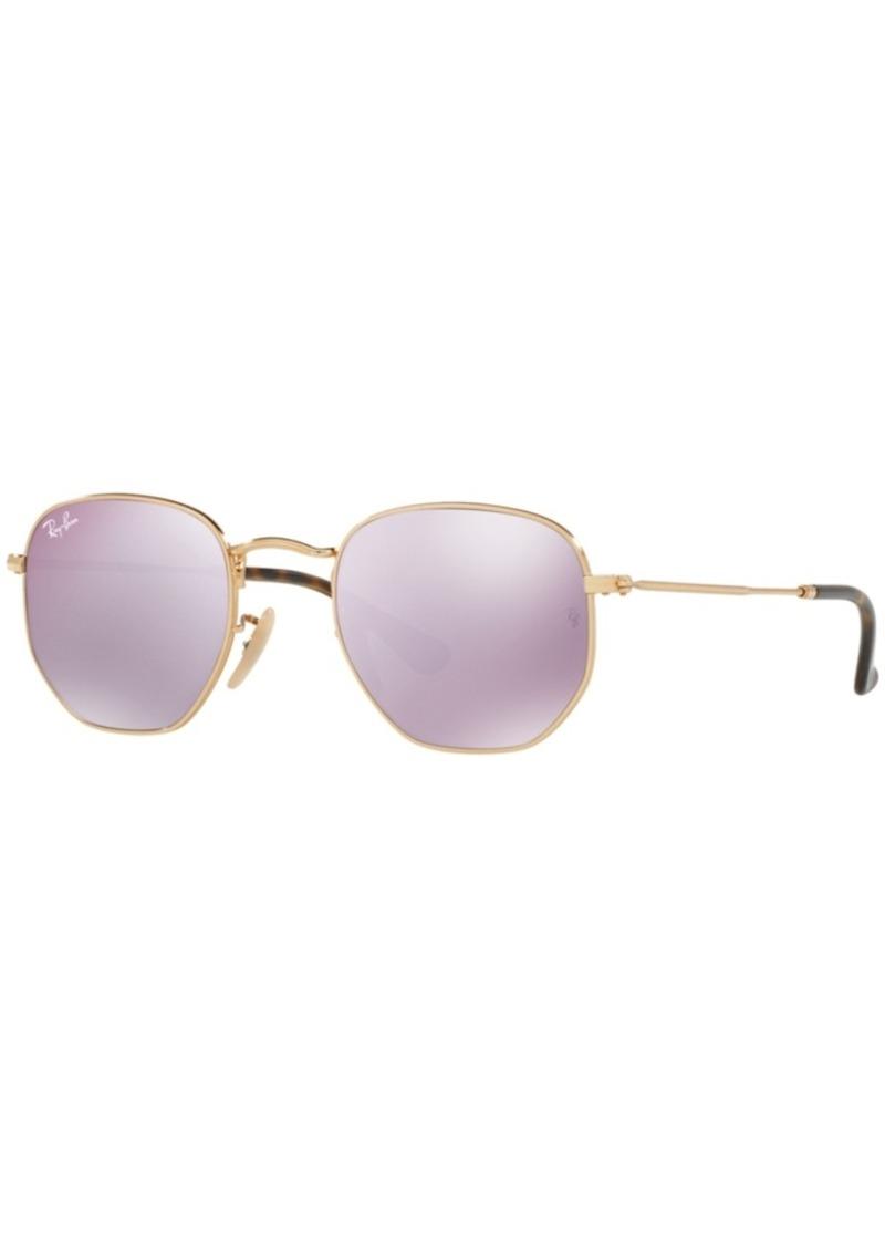 Ray-Ban Sunglasses, RB3548N Hexagonal Flat Lenses