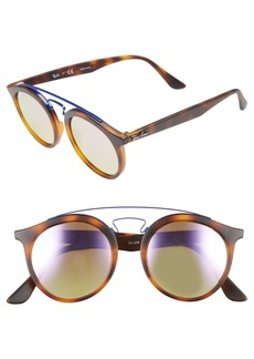Ray-Ban Highstreet 49mm Gatsby Round Sunglasses