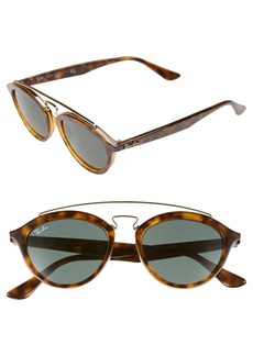 Ray-Ban 'Highstreet' 50mm Brow Bar Sunglasses