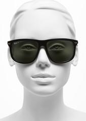 Ray-Ban Highstreet 60mm Polarized Flat Top Sunglasses
