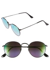 Ray-Ban Icons 50mm Round Sunglasses