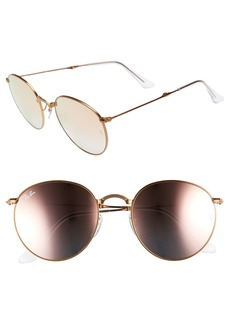 Ray-Ban Icons 53mm Folding Round Sunglasses