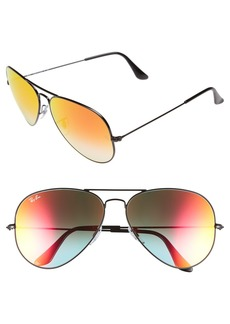 Ray-Ban Icons 62mm Aviator Sunglasses