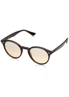 Ray-Ban INJECTED MAN SUNGLASS - OPAL BROWN Frame BROWN MIRROR SILVER GRADIENT Lenses 49mm Non-Polarized