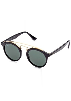 Ray-Ban Injected Unisex Sunglasses -  Frame Dark Green Lenses 46mm Non-Polarized