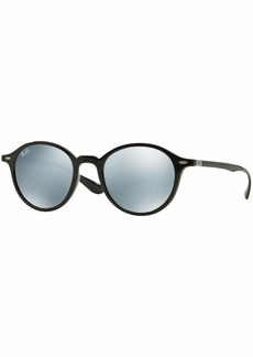 Ray-Ban Injected Unisex Sunglasses -  Frame Silver Flash Lenses 50mm Non-Polarized