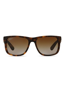 Ray-Ban Unisex Justin Polarized Square Sunglasses, 55mm
