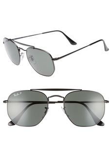 Ray-Ban Marshal 54mm Polarized Aviator Sunglasses