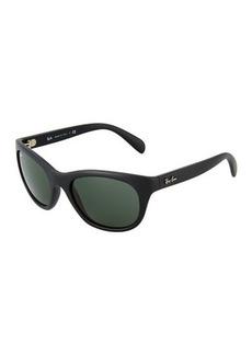 Ray-Ban Matte Round Sunglasses