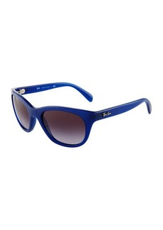 Ray-Ban Matte Rounded Plastic Sunglasses
