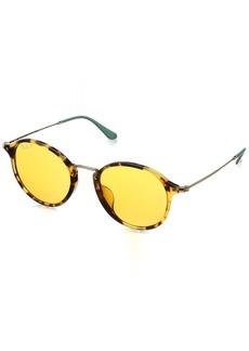 Ray-Ban Men's 0rb2447f Polarized Iridium Round Sunglasses