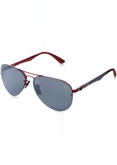 Ray-Ban Men's 0rb3460mf009h259metal Man Polarized Iridium Aviator Sunglasses Black