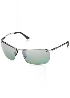 Ray-Ban Men's 0rb3544003/5l64metal Man Sunglass Polarized Iridium Square
