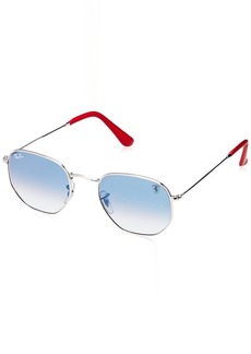 Ray-Ban Men's 0rb3548nmf0083151metal Unisex Square Sunglasses Gold 45 mm