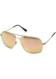 Ray-Ban Men's 0rb3587ch001/i061metal Man Sunglass Polarized Iridium Square GOLD 61 mm