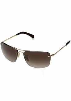 Ray-Ban Men's 0rb3607 Cateye Sunglasses GOLD 58.0 mm