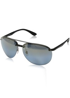 Ray-Ban Men's 0rb4293ch876/j064plastic Man Sunglasses Polarized Iridium Aviator GREY 65 mm