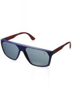 Ray-Ban Men's 0rb4309m Square Sunglasses MATTE DARK BLUE 59.9 mm