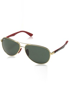 Ray-Ban Men's 0rb8313mf0087161steel Man Sunglass Aviator GOLD