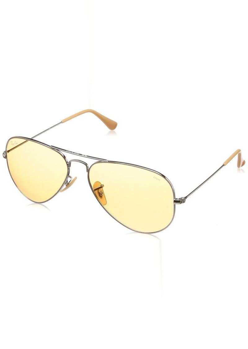 Ray-Ban Men's Aviator Large Metal Sunglasses SILVER 57.5 mm