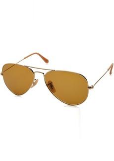 Ray-Ban Men's Aviator Large Metal Sunglasses