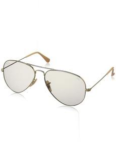 Ray-Ban Men's Aviator Large Metal Sunglasses GOLD 54.5 mm